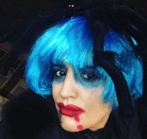 """ممثلة مغربية تحتفل بـ""""الهالوين"""" على طريقتها الخاصة 1"""