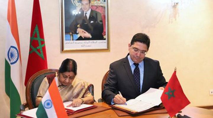 خلال تواجدها في المغرب..توقيع اتفاقيات شراكة مع وزيرة الشؤون الخارجية الهندية 2