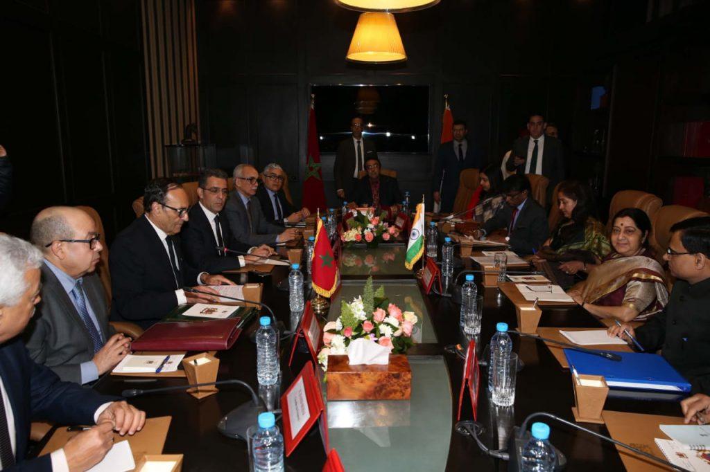 خلال تواجدها في المغرب..توقيع اتفاقيات شراكة مع وزيرة الشؤون الخارجية الهندية 1