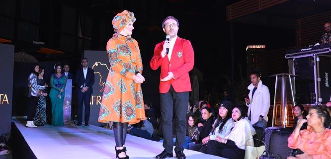 """مغربية تتوج بجائزة مهرجان """"أفريكان فاشن طالنت"""" 1"""
