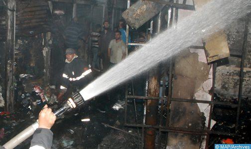 حريق بأحد مقاهي طنجة